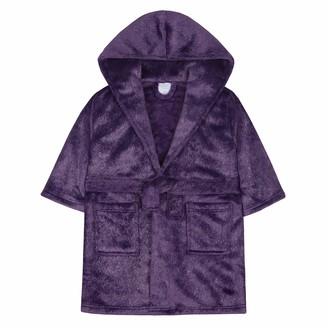 Minikidz / 4Kidz Girls Silver Fleck/Glittery Plush Fleece Dressing Gown (4-5 Years