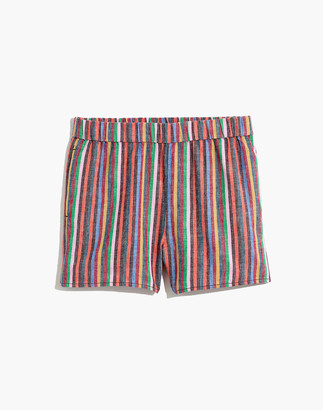 Madewell Pull-On Shorts in Rainbow Stripe