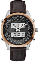 GUESS Two-Tone Brown Digital Chronograph Watch