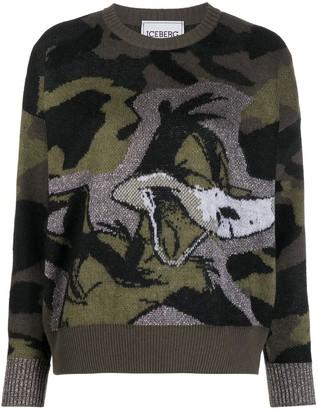Iceberg Looney Tunes camouflage jumper