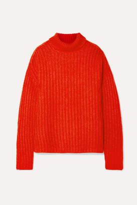 Marni Ribbed Mohair-blend Turtleneck Sweater - Red