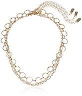 Steve Madden SMN463562GD 3 Piece Chain Gold Choker Necklace