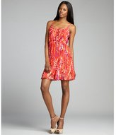 The Cue red printed and pleated 'Cherry' spaghetti strap sundress