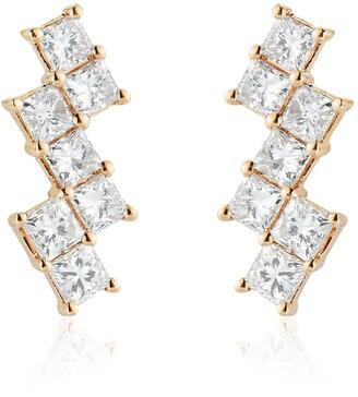 Dana Rebecca Designs 14kt yellow gold Millie Ryan diamond stair step diamond earrings