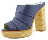 BCBGeneration Cecely Women Open Toe Synthetic Blue Platform Heel.