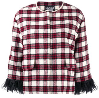 Boutique Moschino Check Fitted Jacket