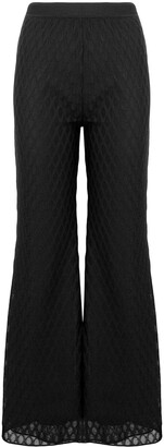 M Missoni flared lace trousers