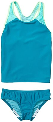 Speedo Kids Mesh Tankini Two-Piece Set (Big Kids) (Capri Breeze) Girl's Swimwear Sets