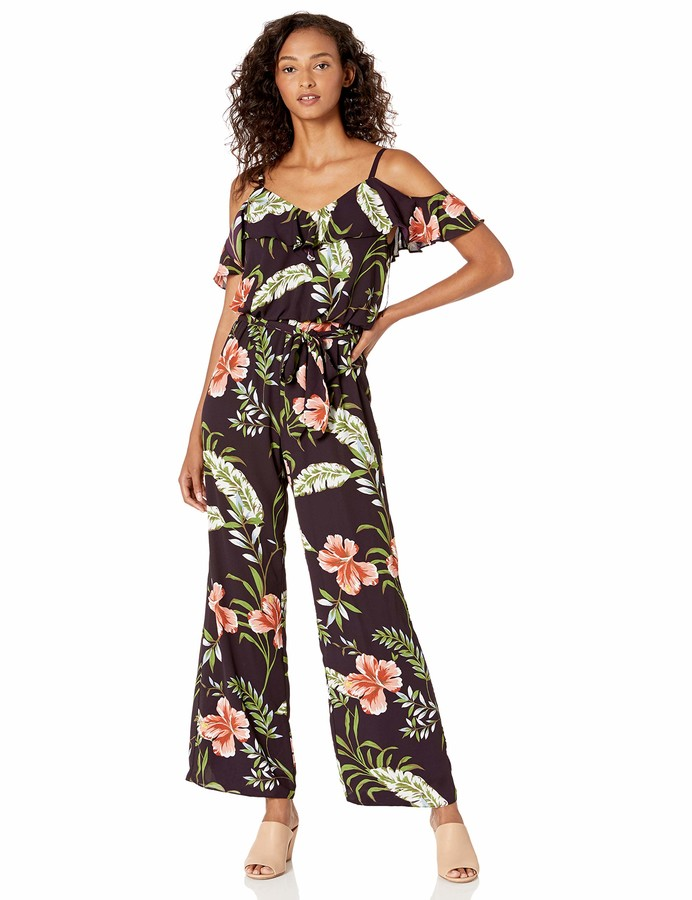 Choose SZ//color Details about  /Adrianna Papell Women/'s Tumbling Tropic Print Jump