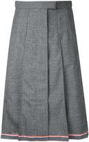 Thom Browne pleated skirt - women - Wool - 40
