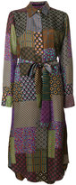 Maurizio Pecoraro patchwork print shirt dress
