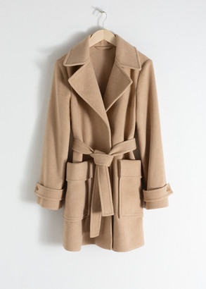 And other stories Belted Wool Blend Coat