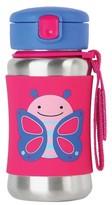 Skip Hop Zoo Stainless Steel Straw Bottle - Butterfly