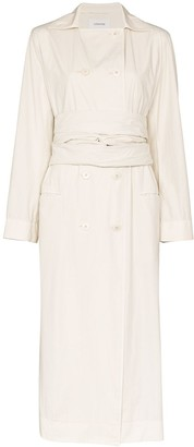 Lemaire Double-Breasted Tie Waist Trench Coat