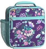 Pottery Barn Kids Classic Lunch Bag, Mackenzie Purple Flower Bouquets