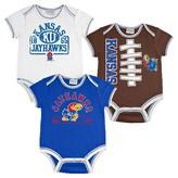 NCAA Kansas Jayhawks Newborn/Infant Boys 3pk Body Suit