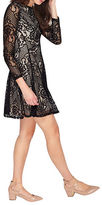 Miss Selfridge Long Sleeve Lace Skater Dress
