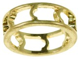 Women's Worn Gold Open Band Ring
