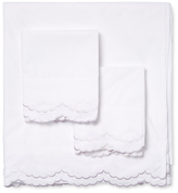 Melange Home Double Scalloped Embroidery Sheet Set