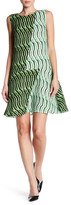 Vivienne Tam Stripe Wave Flare Silk Dress