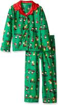 Peanuts Charlie Brown Christmas Traditional Girls' Pajama for girls (10/12)