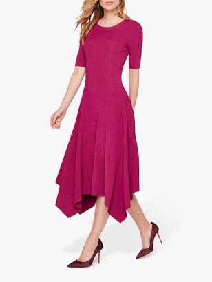 Damsel in a Dress Deena Knit Drape Hem Dress, Magenta