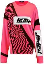 Jaded London NEON PRINT MOTORCROSS Long sleeved top neon pink