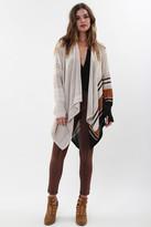 Goddis Nadia Drape Sweater In Coppersmith