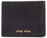 Miu Miu Women's Madras Leather Bifold Wallet - Black