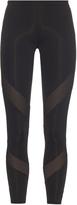 adidas by Stella McCartney Mesh-panel cropped performance leggings