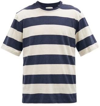 Oliver Spencer Striped Cotton T-shirt - Blue White