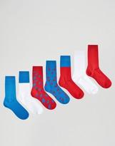 Asos Socks With Lightning Bolt Design 7 Pack