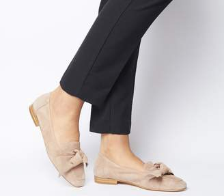 Office Foal Softy Bow Loafers Nude Suede