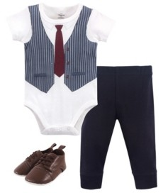 What/'s Cooking Little Treasure Boy Bodysuit 3-Piece Set Pant and Shoes