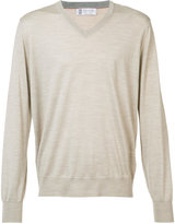Brunello Cucinelli v-neck jumper - men - Cashmere/Virgin Wool - 48