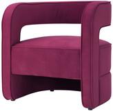 Nicole Miller Aldo Velvet Accent Chair