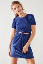 Honey Punch Knot-Front T-Shirt Dress