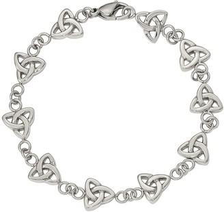 "Steel By Design Stainless Steel 7-3/8"" Trinity Knot Bracelet"