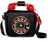 Betsey Johnson Faux Leather Phone Crossbody