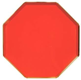Meri Meri - Red Dinner Plates - Disposable Dinnerware - 8ct