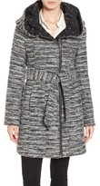Catherine Malandrino Women's Hooded Tweed Coat