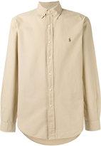 Polo Ralph Lauren embroidered logo button-down shirt - men - Cotton - S