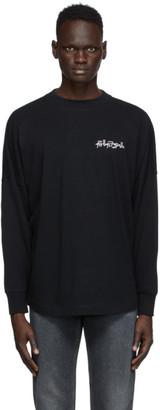 Palm Angels Black Embroidered Desert Skull Long Sleeve T-Shirt