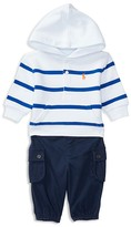 Ralph Lauren Infant Boys' Terry Hoodie & Cargo Pants Set - Sizes 3-24 Months