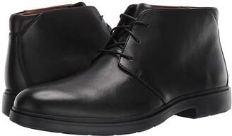 Clarks Un Tailor Mid (Black Leather) Men's Shoes