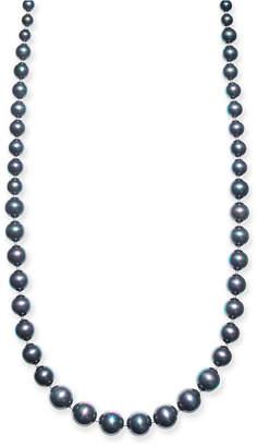 "Charter Club Silver-Tone Imitation Black Pearl Graduated 42"" Strand Necklace"