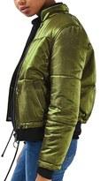 Topshop Women's Carter Lurex Satin Jacket
