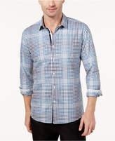 Ryan Seacrest Distinction Ryan Seacrest DistinctionTM Men's Blue Check Woven Modern-Fit Shirt, Created for Macy's