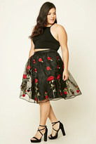 Forever 21 FOREVER 21+ Plus Size Shirred Floral Skirt
