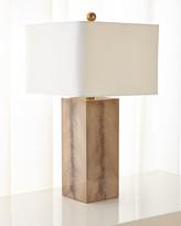 John-Richard Collection John Richard Collection Walnut Wood Veneer Table Lamp